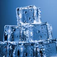 a stack of ice cubes